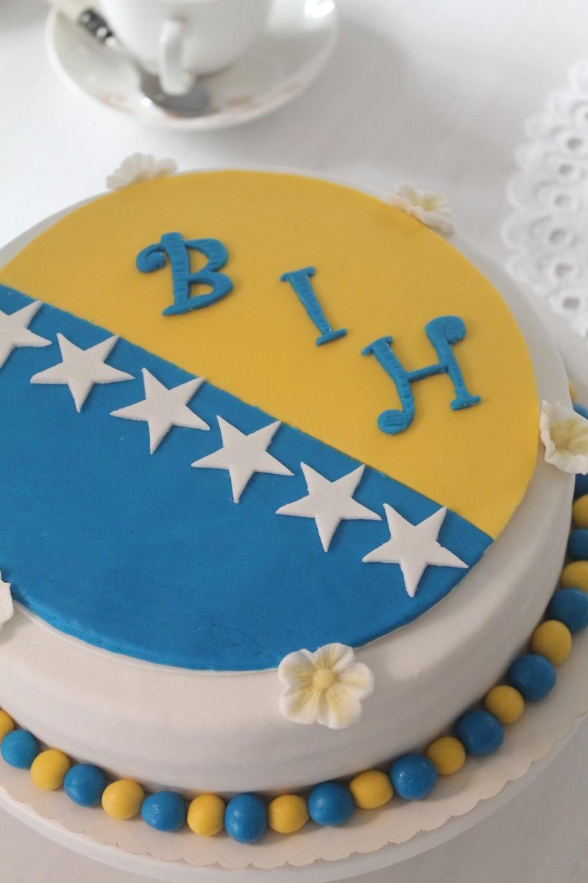 Bosnien Und Herzegowina Wm Torte Cuplovecake